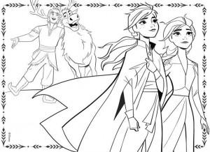 Puzzle de colorat maxi - Frozen II (60 piese)