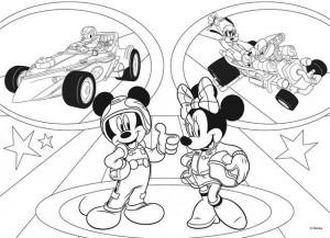 Puzzle de colorat - Mickey in cursa (24 piese)