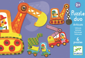 Puzzle duo mobil vehicule