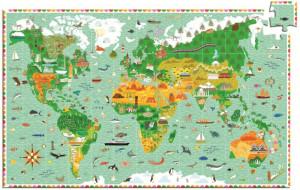 Puzzle observatie Djeco in jurul lumii