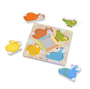 Puzzle tactil cu oglinda Pets Melissa and Doug