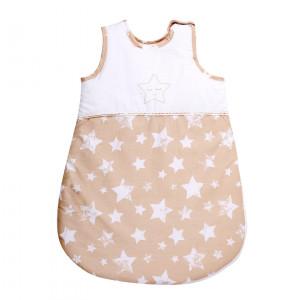 Sac de dormit de vara (0-6 luni), Beige Stars