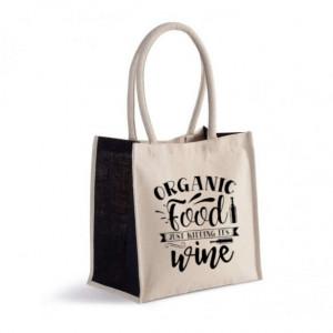 Sacosa din iuta printata Organic Food