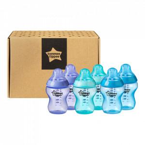Set biberoane ONL Baieti Tommee Tippee, 260 ml, 6 buc, 0luni+, Multicolor