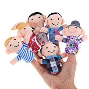 Set de 6 marionete pentru degete - familie