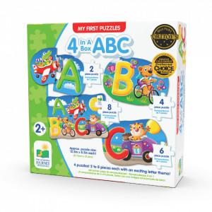 SET PRIMELE MELE 4 PUZZLE-URI ABC - ENG