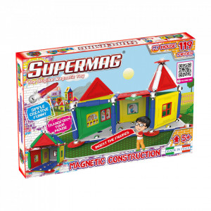 SUPERMAG MY HOUSES - SET CONSTRUCTIE 119 PIESE