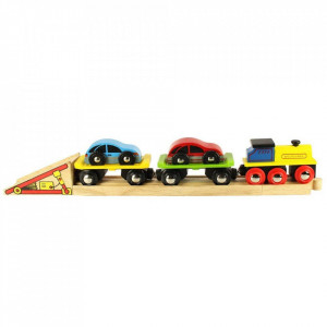 Trenulet cu platforma auto