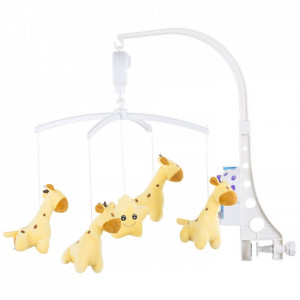 Carusel muzical pentru patut Chipolino Sweet Giraffes