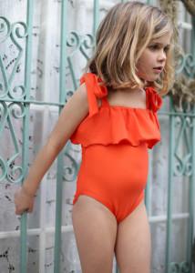 Costum de baie portocaliu