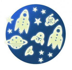 Decor fluorescent Djeco, Cosmos