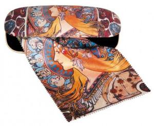 Etui cu textil si protectie ochelari, Art Nouveau
