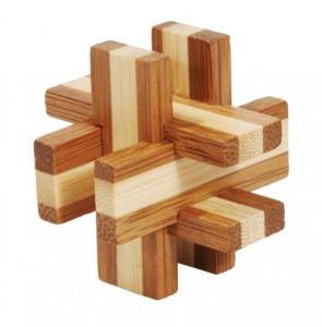 Joc logic IQ din lemn bambus in cutie metalica-6
