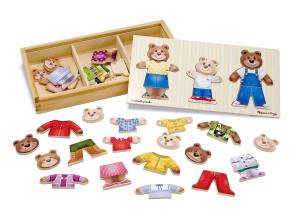 Melissa and Doug - Set de joaca - Imbraca familia de ursuleti