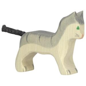 Pisica - figurina din lemn de artar si fag - Goki