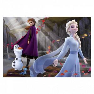 Puzzle 2 in 1 - Frozen II (77 piese)