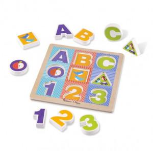 Puzzle cu piese mari pentru belelusi Melissa and Doug