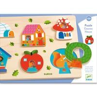 Puzzle Djeco, Casa cu surprize