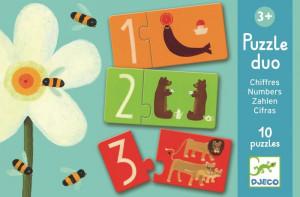 Puzzle duo Djeco Numere