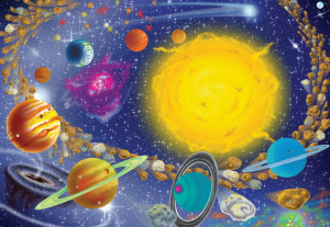Puzzle Sistemul Solar Melissa and Doug 100 piese