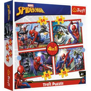 PUZZLE TREFL 4IN1 SPIDERMAN - EROUL SPIDERMAN