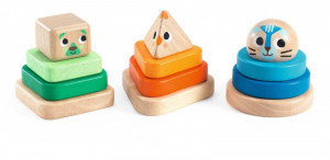 Pyramidou, jucarie Montessori Djeco