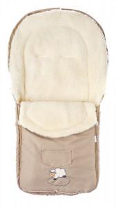 Sac de iarna Sensillo lana Cappuccino 95x40 cm