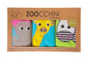 Set 3 Chilotei Antrenament, Zoocchini, Fetita, 3-4 ani, 100% Bumbac Organic, Safari