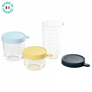 Set 3 recipiente sticla 150/250/400ml - Blue