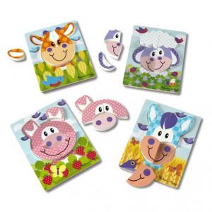 Set 4 puzzle Animale domestice - Melissa & Doug