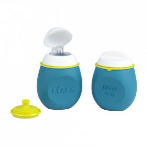 Set BabySqueez 2 in 1 si Recipient Squeez - Albastru