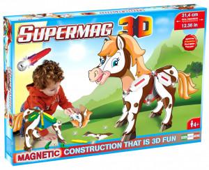 Supermag 3D - Jucarie Cu Magnet Ponei