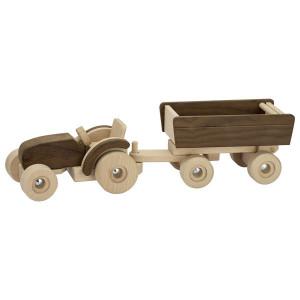 Tractor cu remorca - Set din lemn - Goki Nature
