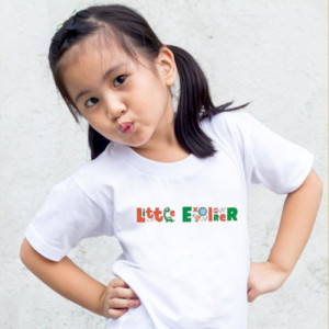 Tricou printat Little explorer