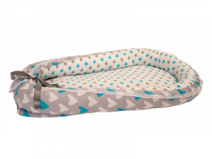 Baby Nest din Cocos MyKids Hearts-Stars Turquise