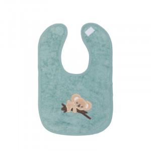 Baveta bumbac organic aqua, 27x39 cm, Koala Fillikid