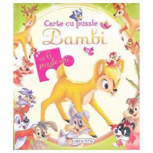 Carte cu puzzle - Bambi