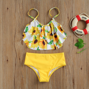 Costum de baie Floarea soarelui din 2 piese