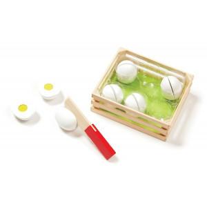 Joc de sortat din lemn Eggs Melissa and Doug