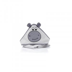 Prosop brodat Hippo, grey , 75x75cm. Fillikid