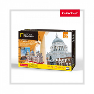 PUZZLE 3D+BROSURA-CATEDRALA ST. PAUL 107 PIESE