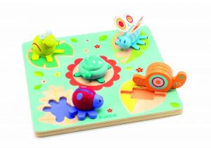 Puzzle Djeco relief Lilo Testoasa si prietenii