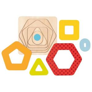 Puzzle incastru cu forme geometrice