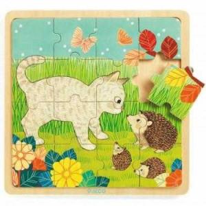 Puzzle lemn Garden Djeco