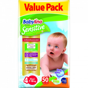 Scutece Babylino Sensitive Economy N4 7-18kg/50 buc