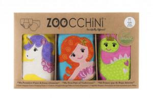 Set 3 Chilotei Antrenament, Zoocchini, Fetita, 2-3 ani, 100% Bumbac Organic, Magic