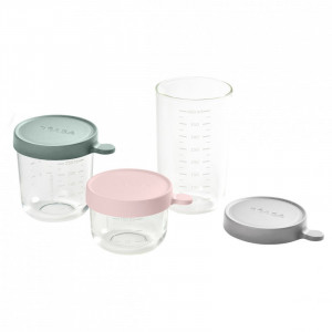 Set 3 recipiente sticla 150/250/400ml - Eucalyptus
