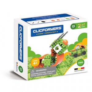 Set de construit Clicformers- Craft verde, 25 de piese