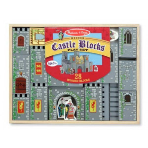Set de cuburi din lemn Castel Melissa and Doug