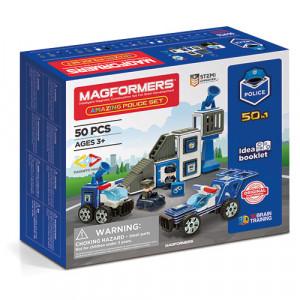 Set magnetic Magformers, Uimitorul set de politie